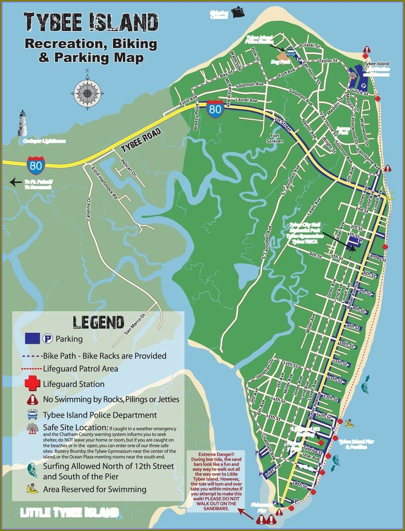 Map Of Tybee Island Hotels