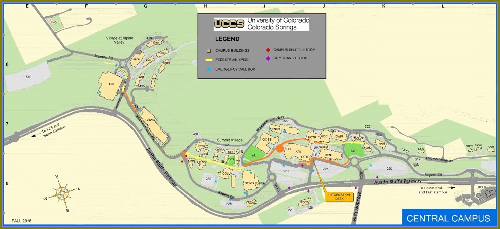 Map Of Uccs Campus