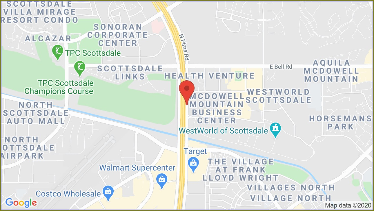 Map Of Westworld Scottsdale Az
