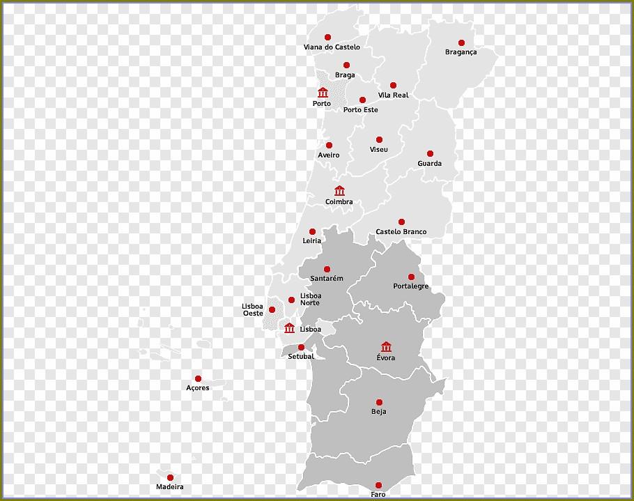 Mapa De Portugal Evora