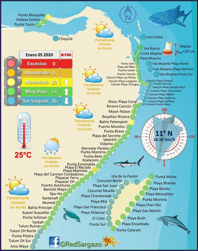 Mapa Zona Hotelera Cancun 2019