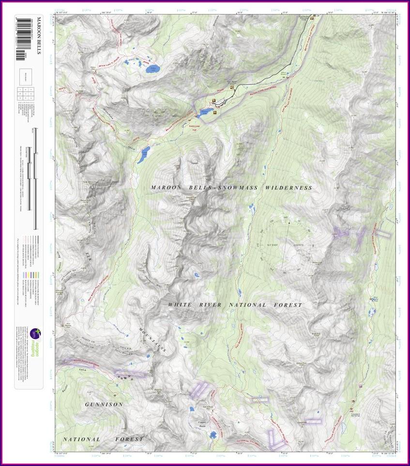 Maroon Bells Colorado Map