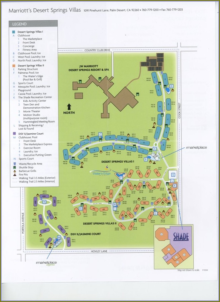 Marriott Desert Springs Villas Ii Property Map