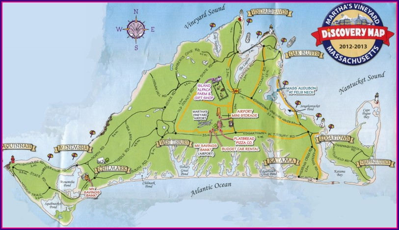 Martha's Vineyard Bike Map
