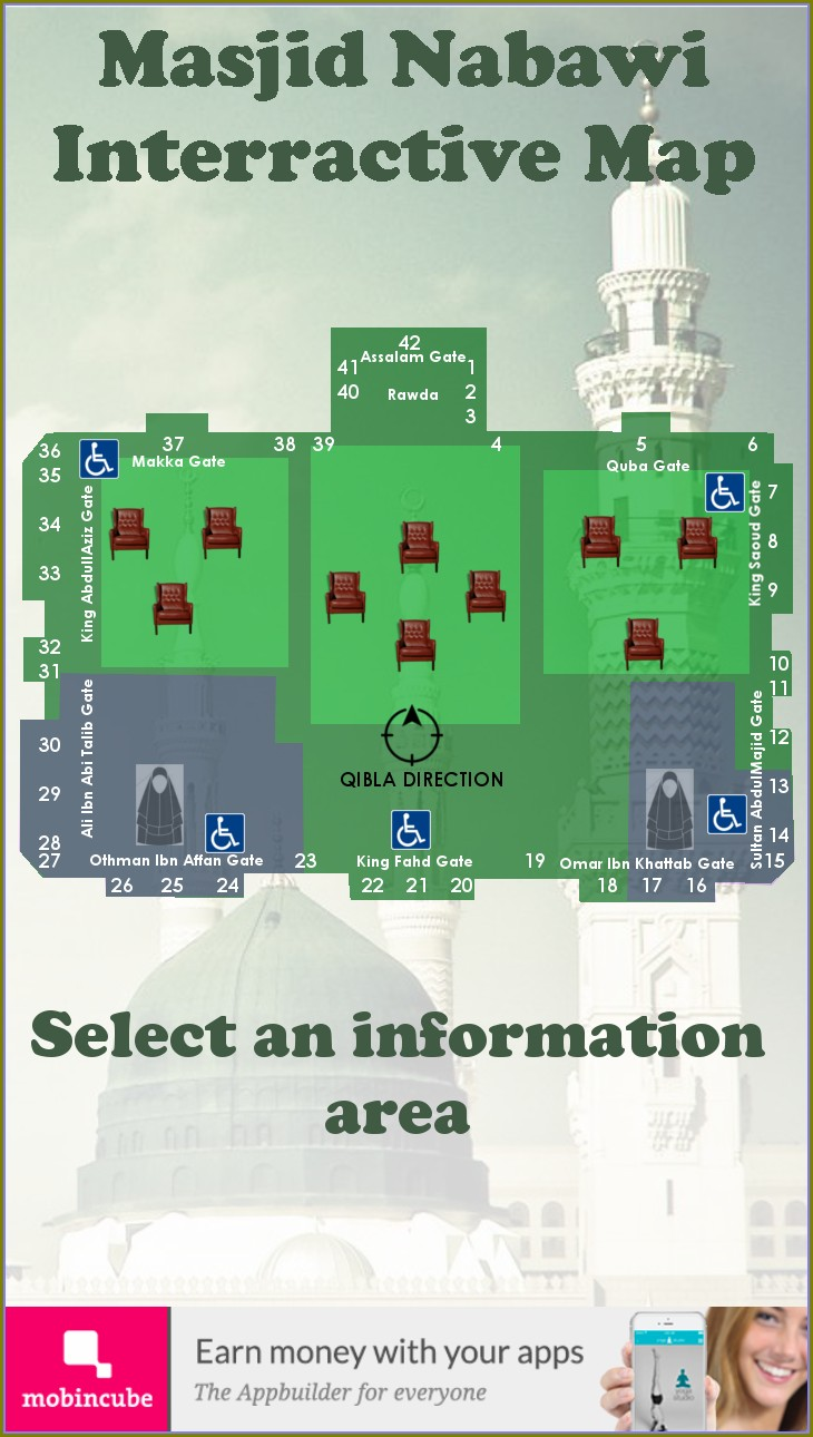Masjid Nabawi Gates Map