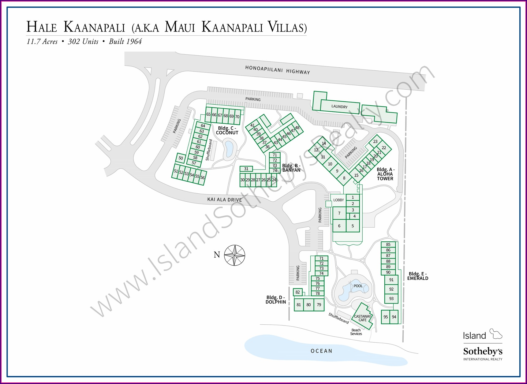 Maui Kaanapali Villas Map