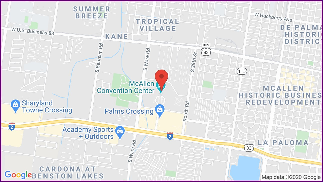 Mcallen Convention Center Map