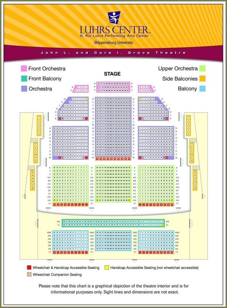 Mccallum Theatre Seating Map