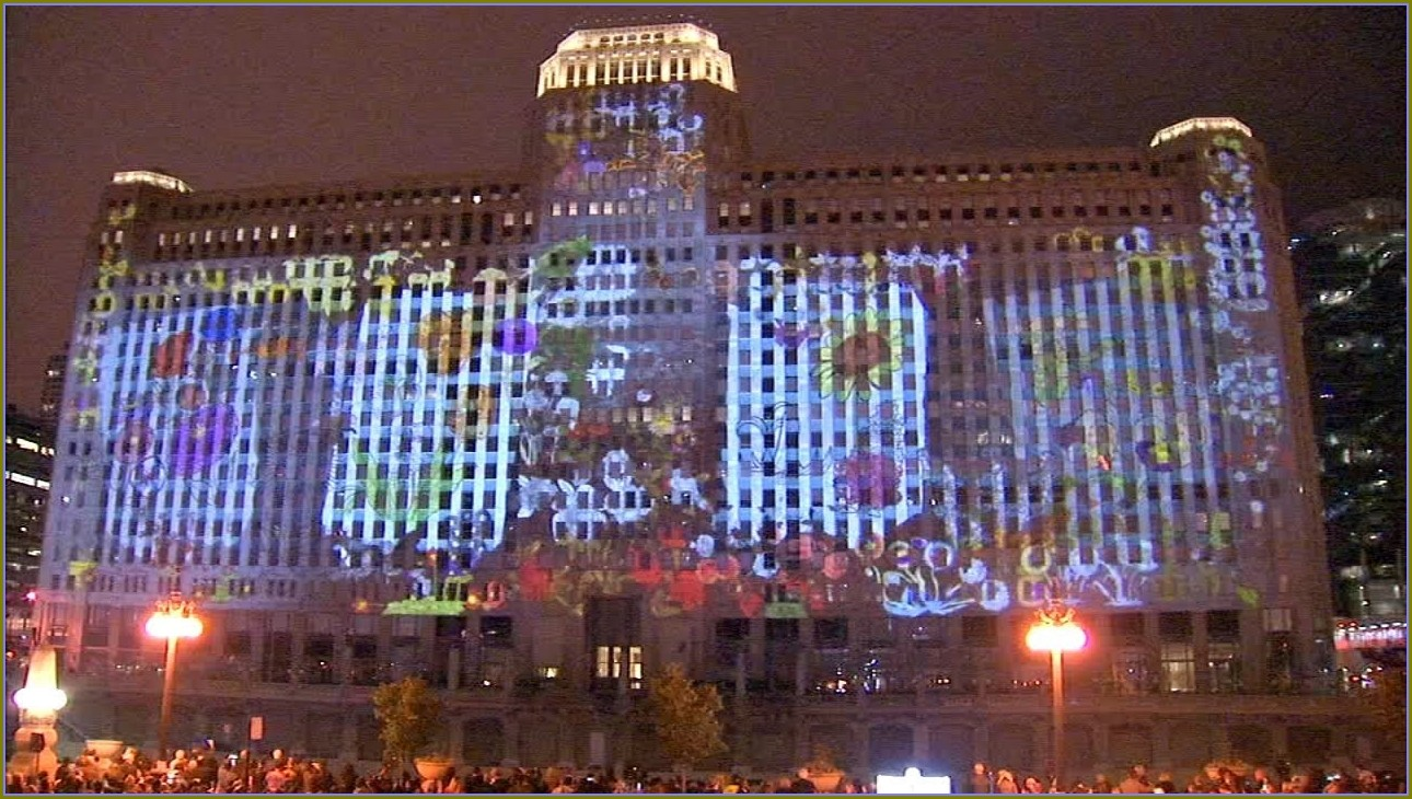 Merchandise Mart Projection Mapping