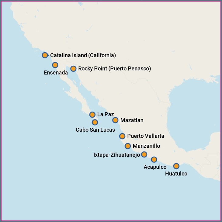 Mexican Riviera Cruise Map