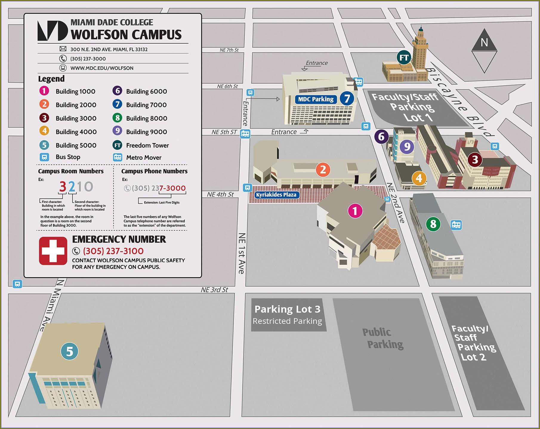 Miami Dade College Campus Map