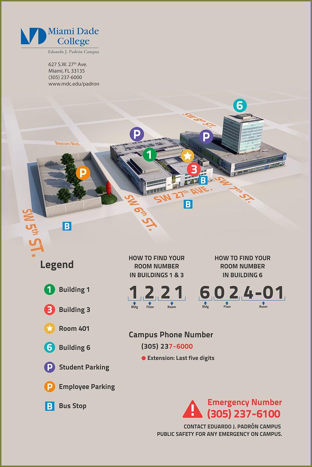 Miami Dade College Hialeah Campus Map
