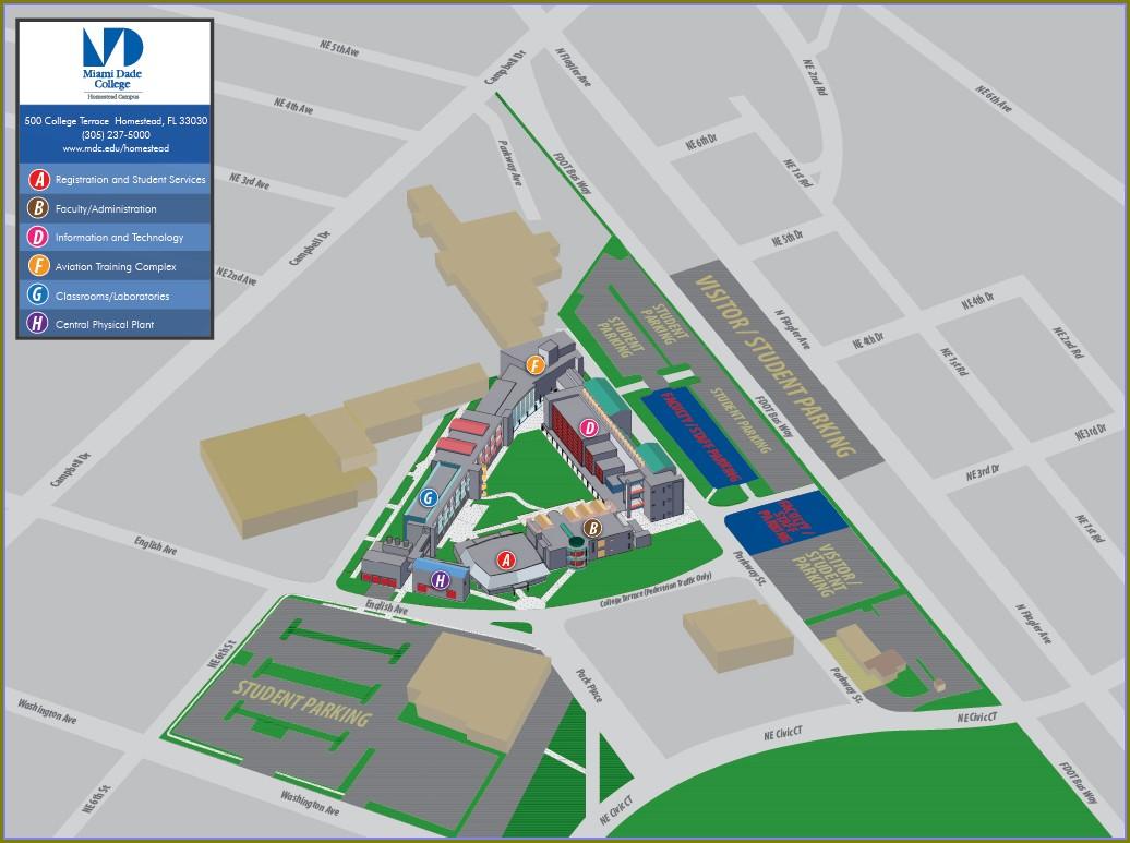 Miami Dade College Homestead Campus Map