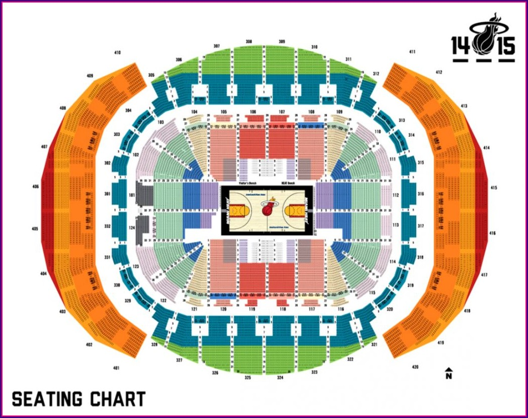 Miami Heat Arena Seating Map