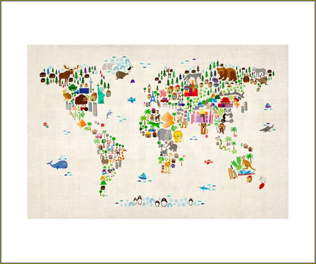 Michael Tompsett Animal Map
