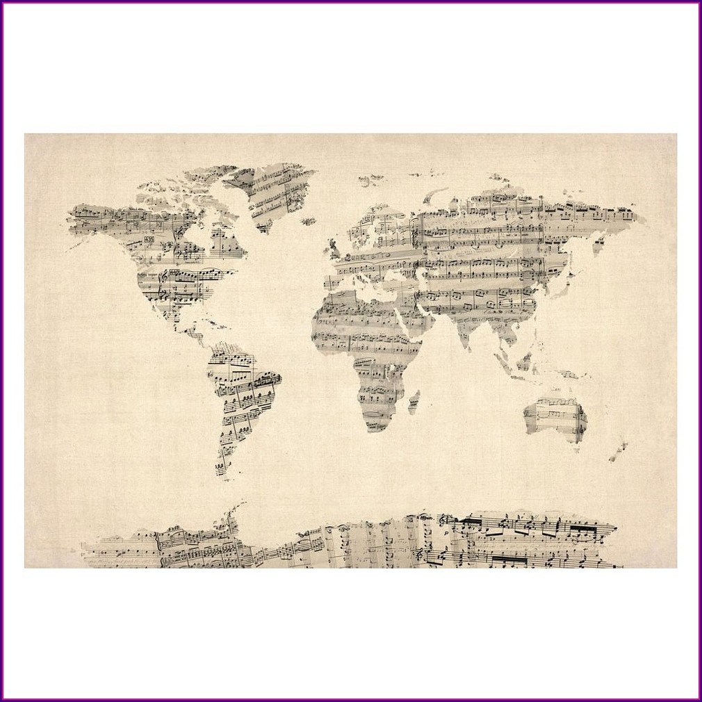 Michael Tompsett World Map Canvas