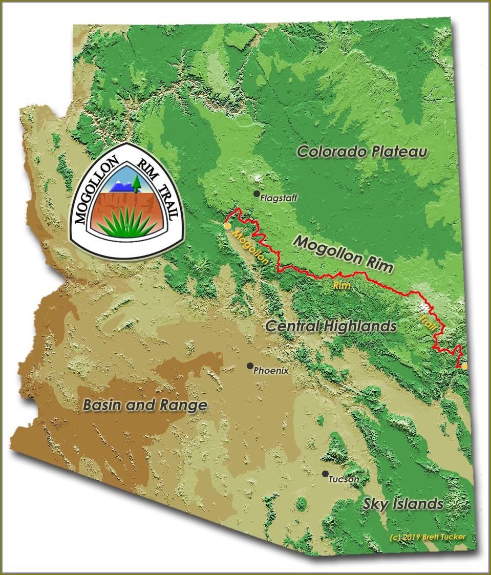Mogollon Rim Trail Map