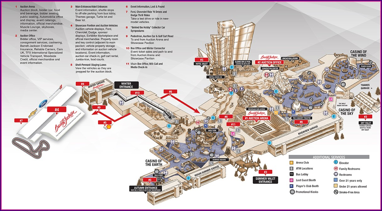 Mohegan Sun Dining Map