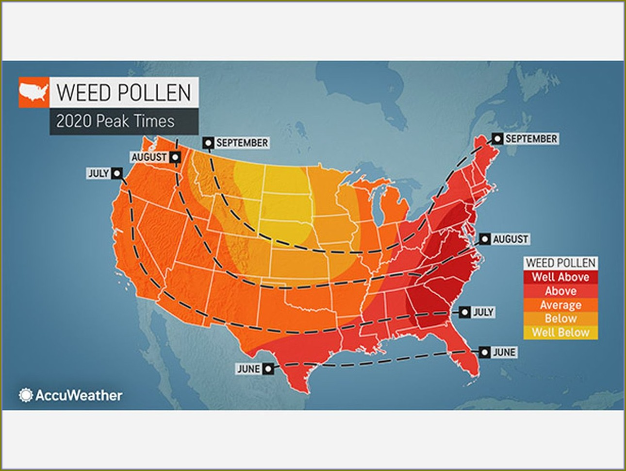 Mold Allergy Map By State