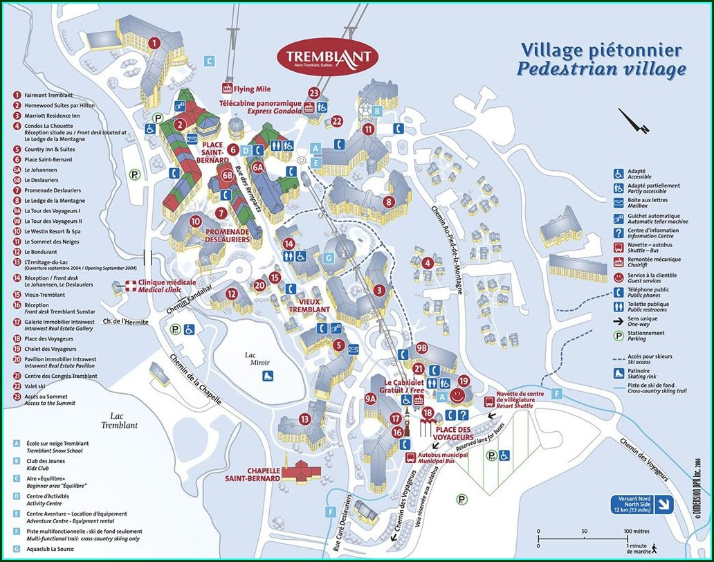 Mont Tremblant Resort Map