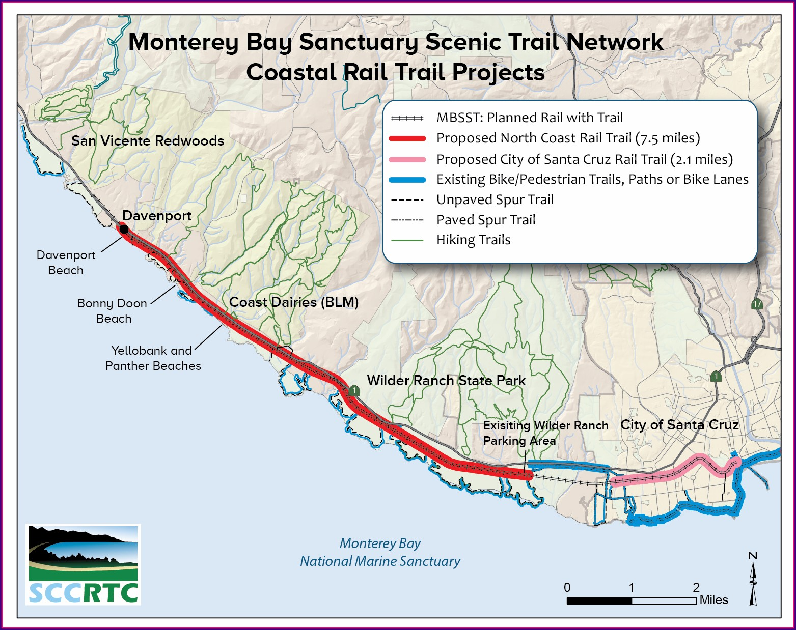 Monterey Bay Coastal Trail Map