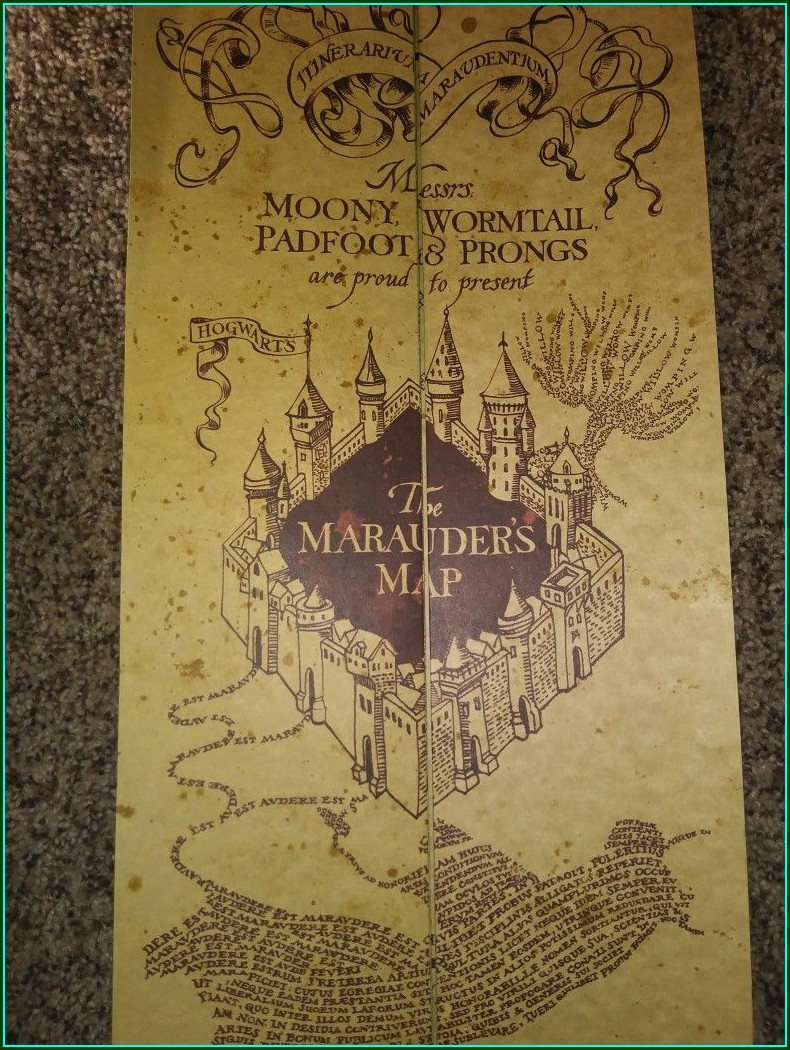 Moony Wormtail Padfoot Prongs Marauders Map