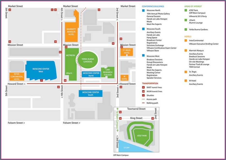 Moscone Center San Francisco Map