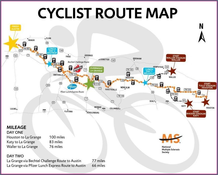 Ms 150 Houston To Austin Route Map