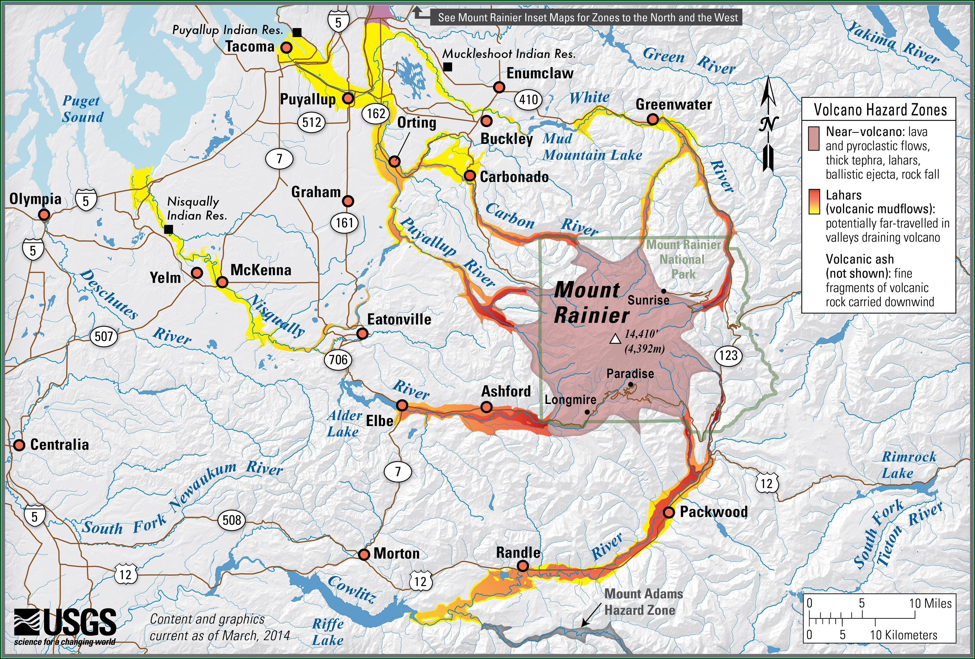 Mt Rainier Evacuation Map