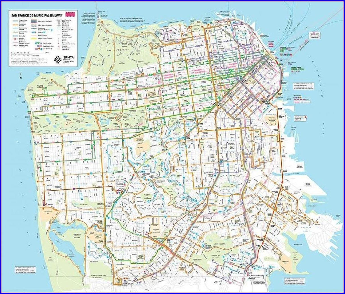 Muni Bus Routes Map