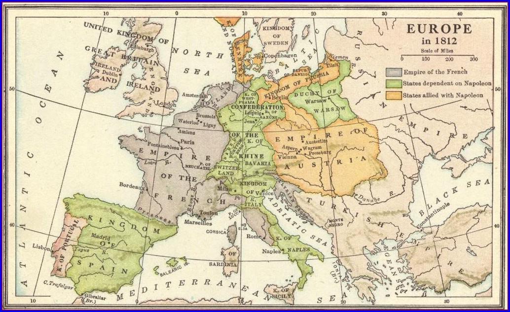 Napoleonic Europe 1812 Map Worksheet Answers