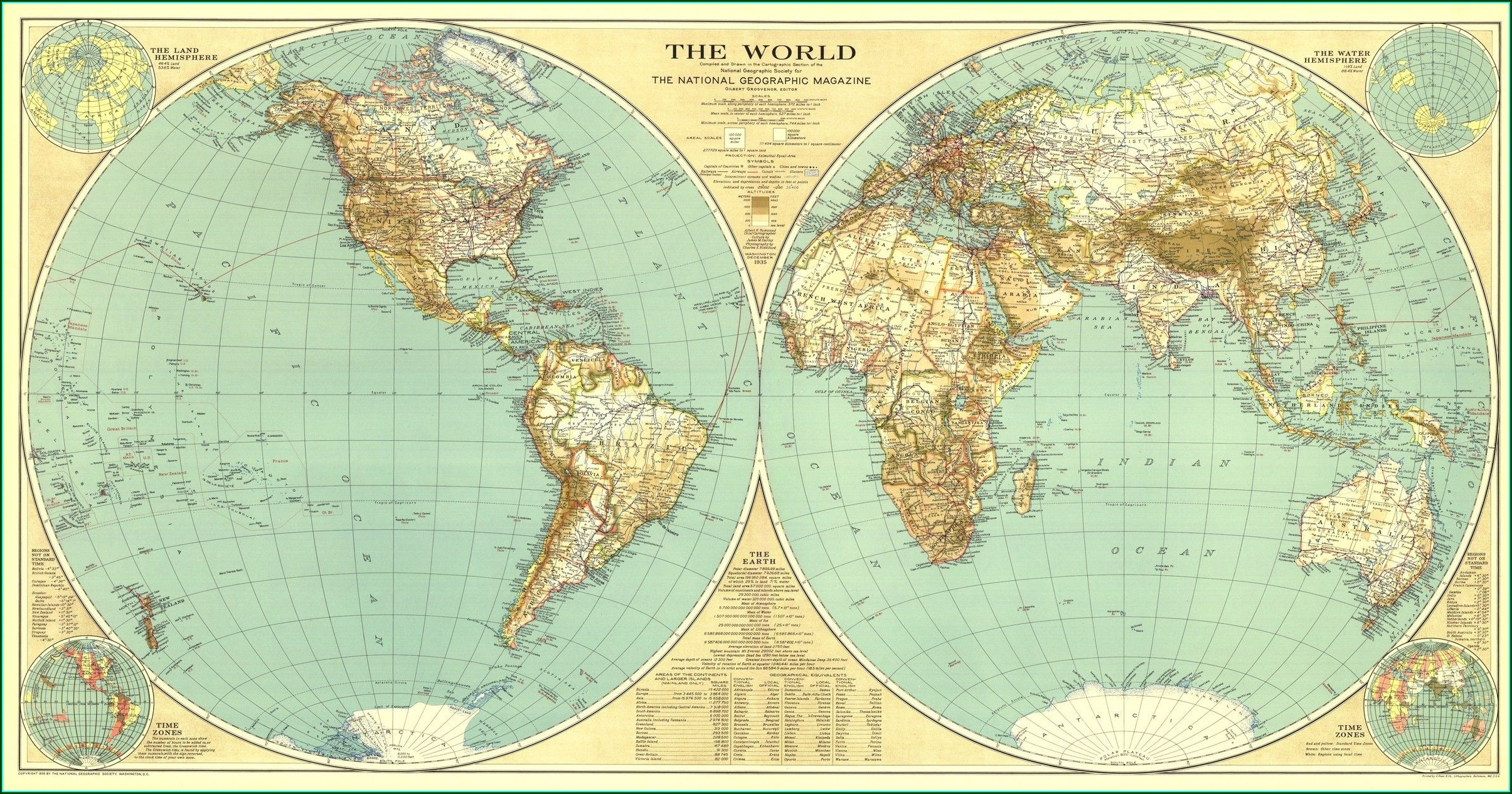 National Geographic World Map Poster