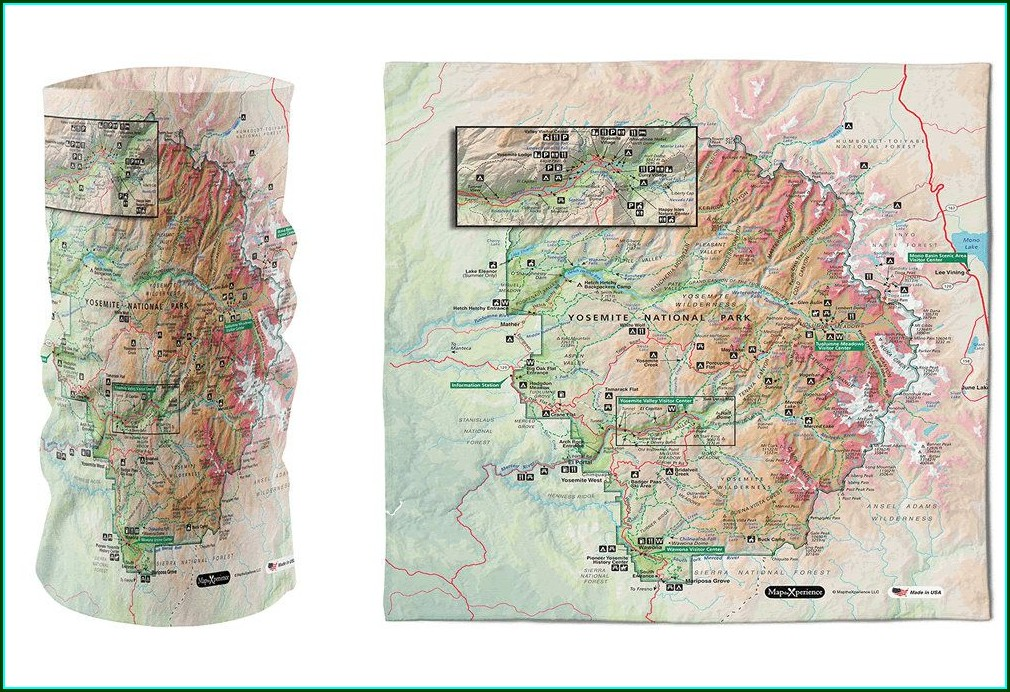 National Park Bandana Maps