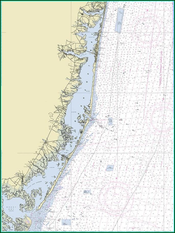 Nautical Map Of Barnegat Bay