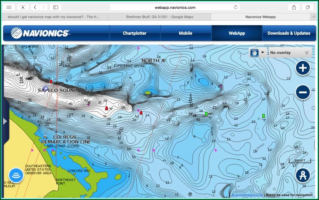 Navionics Lake Map Chips
