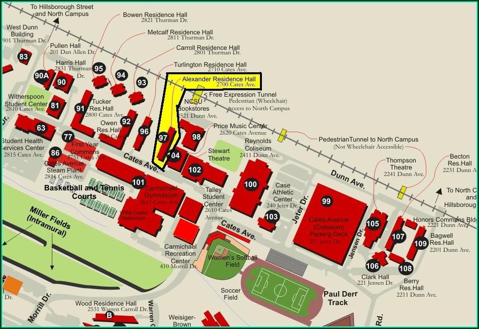 Nc State Dorm Map
