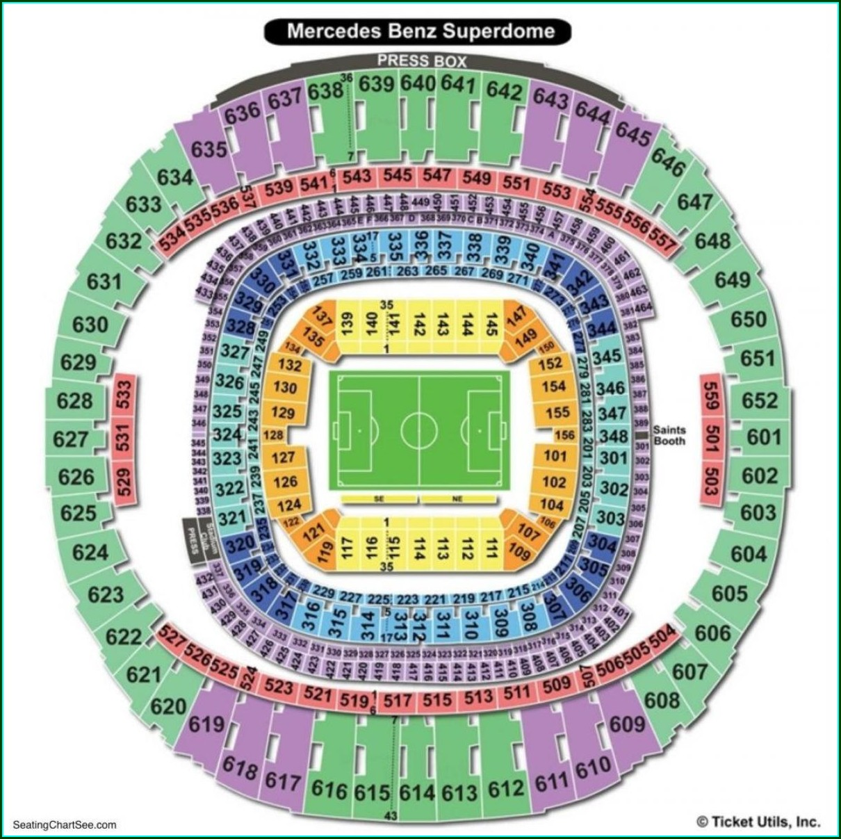 New Orleans Superdome Map