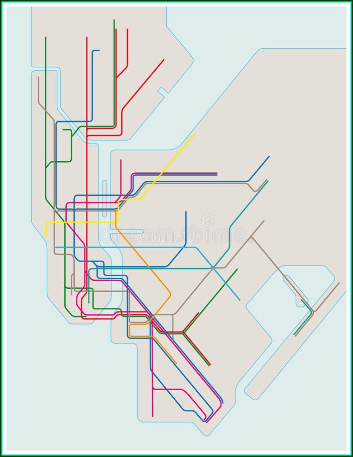 New York Subway Map Vector