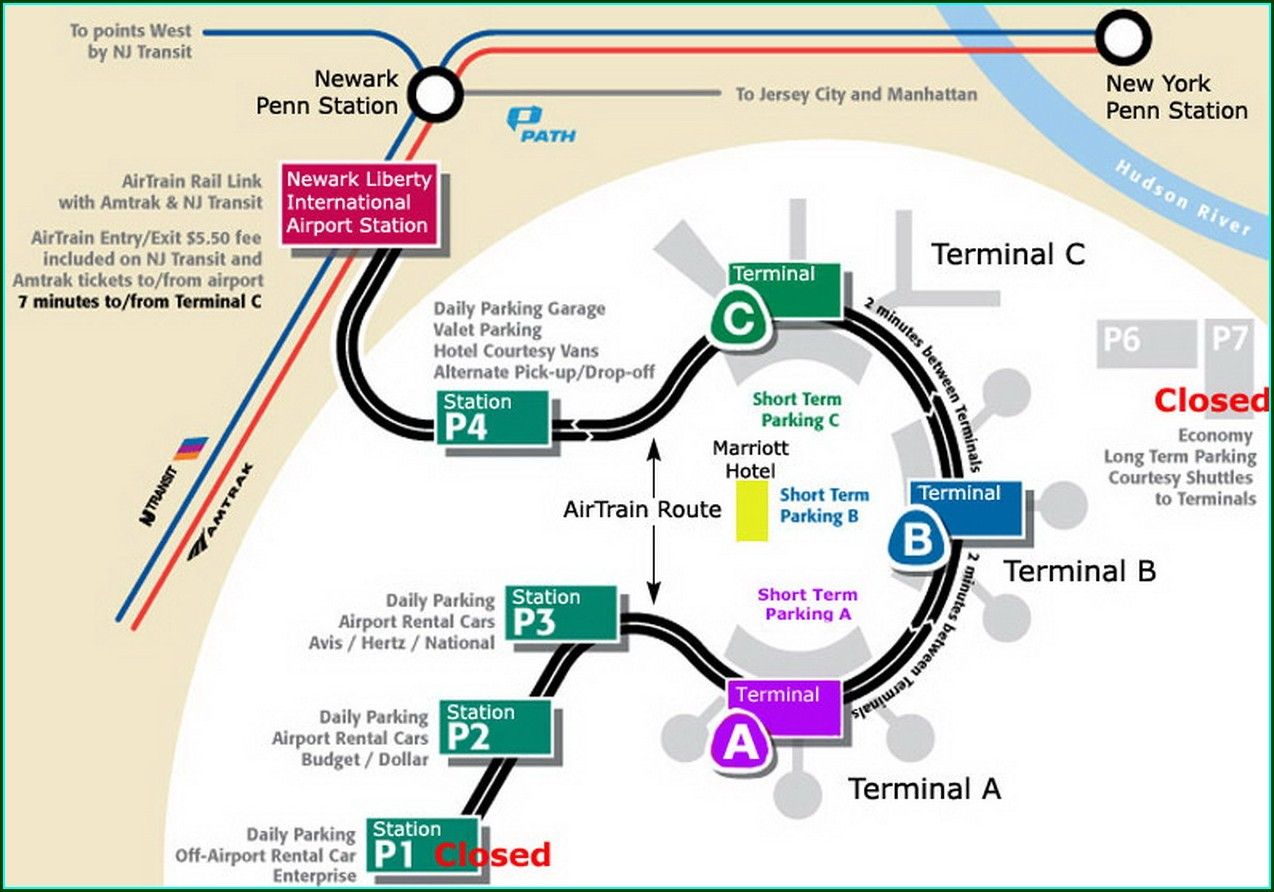 Newark Airport Short Term Parking Map