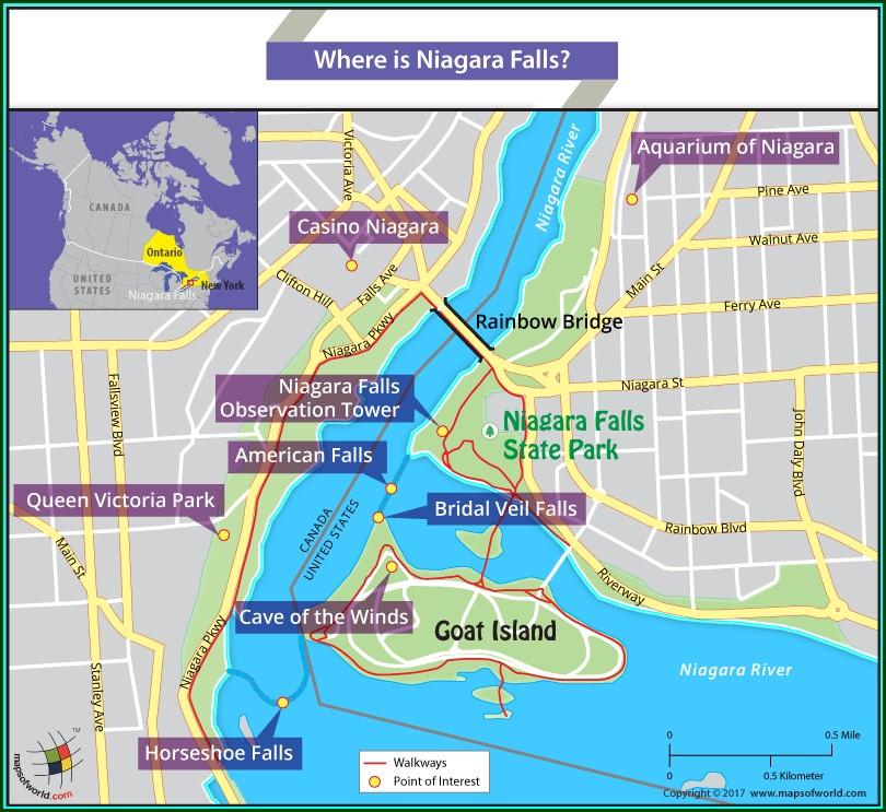 Niagara Falls Casinos Map