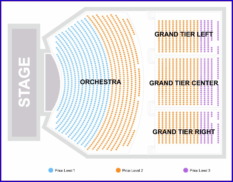 North Charleston Performing Arts Center Seat Map