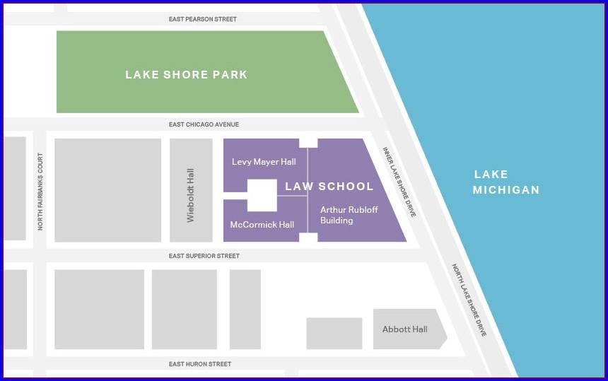 Northwestern Hospital Campus Map