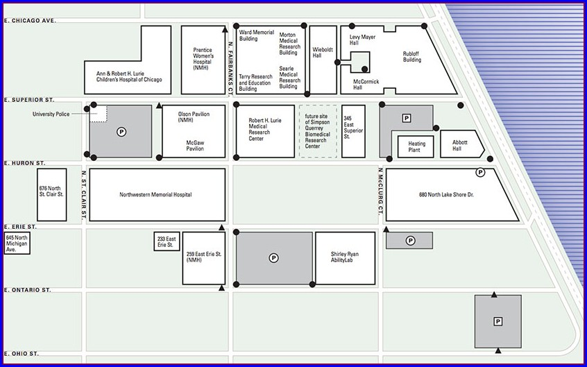 Northwestern Memorial Hospital Campus Map
