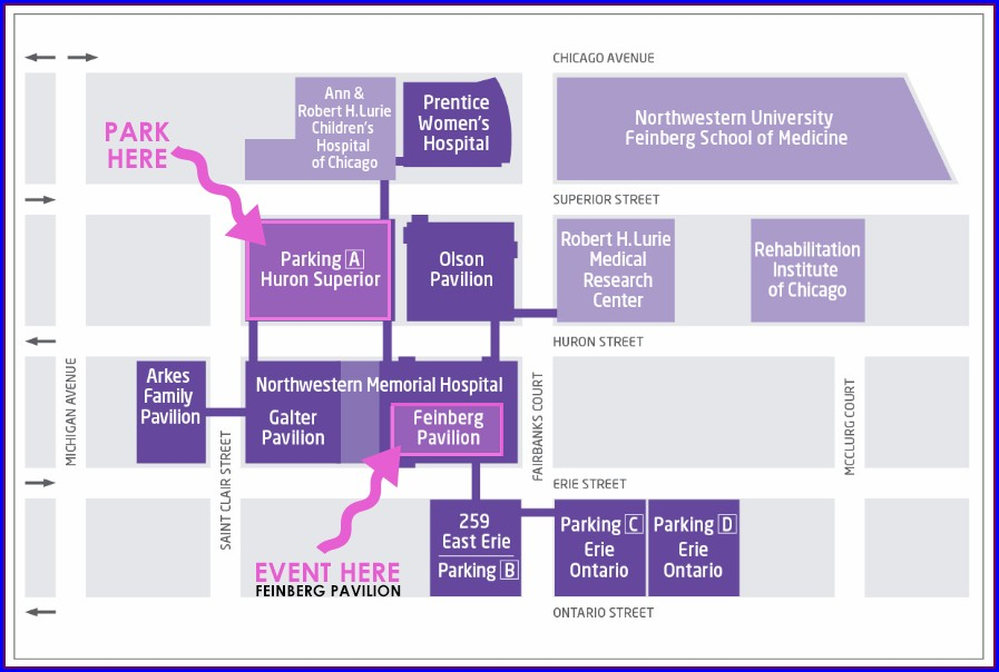 Northwestern Memorial Hospital Map