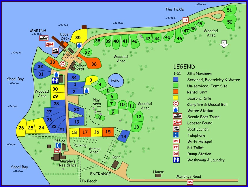 Nova Scotia Campgrounds Map