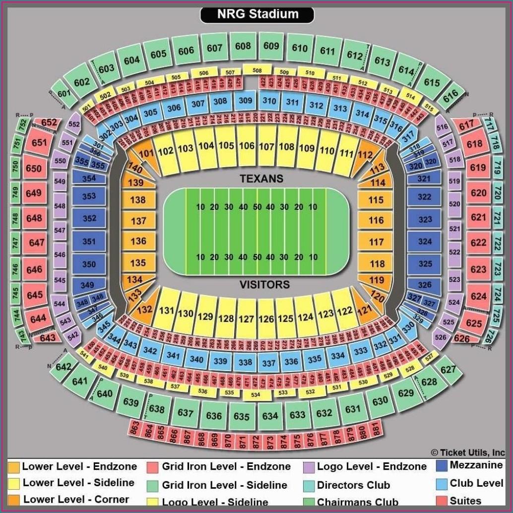 Nrg Stadium Seating Map