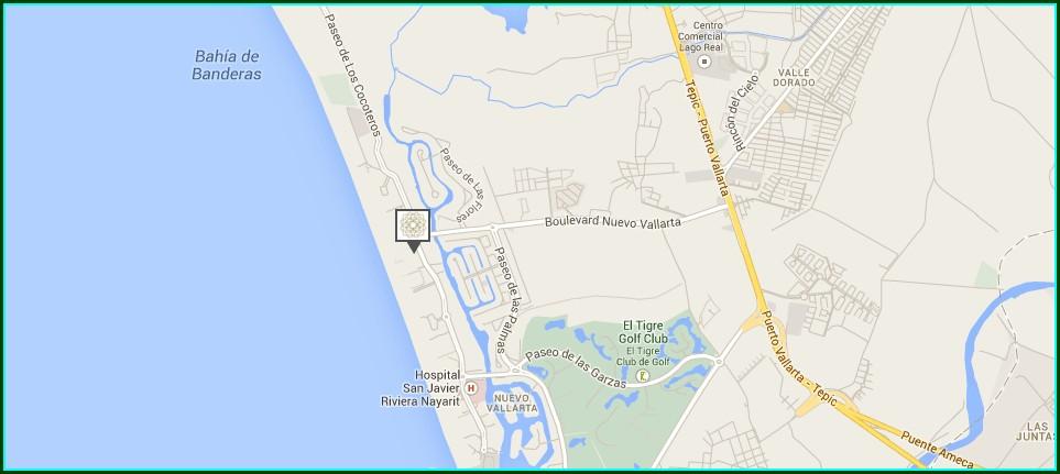 Nuevo Vallarta Beach Map
