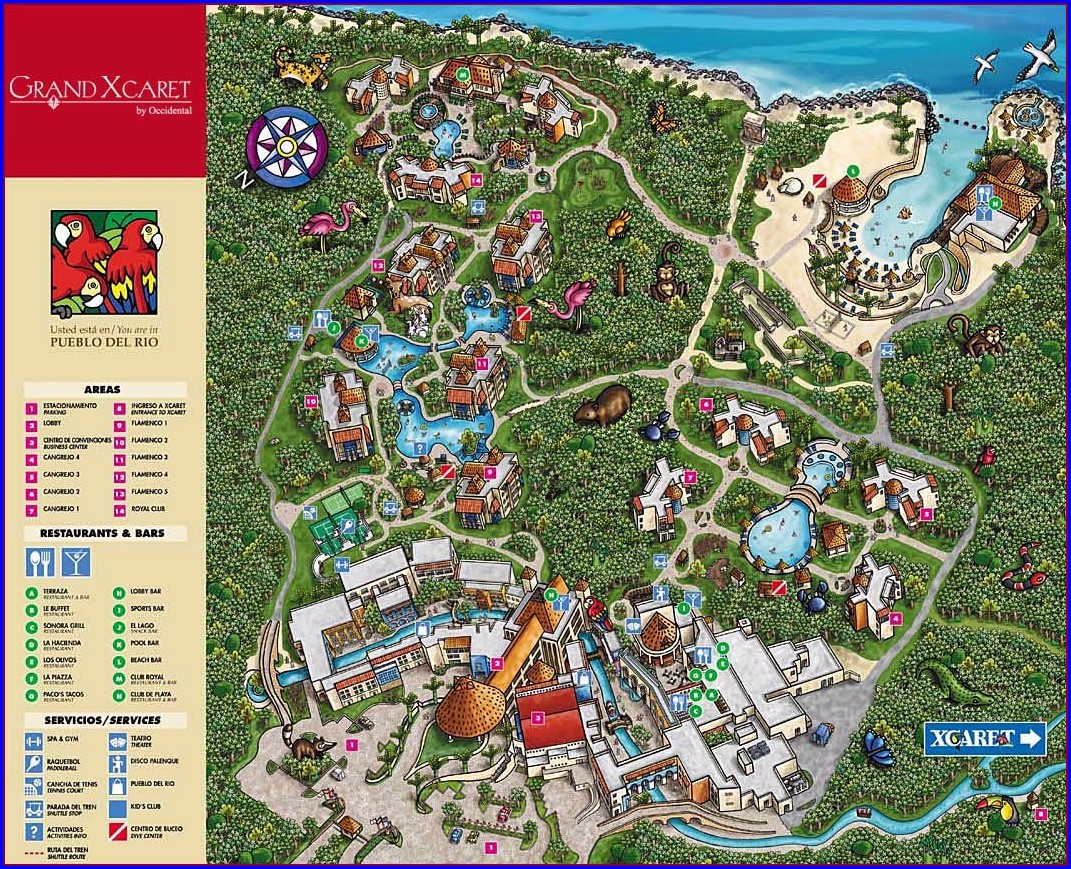 Occidental At Xcaret Map Pdf