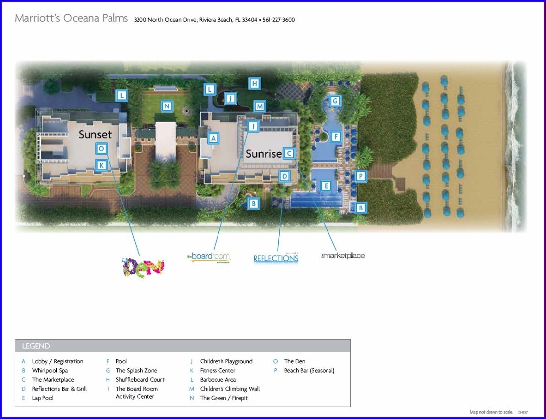 Oceana Palms Resort Map