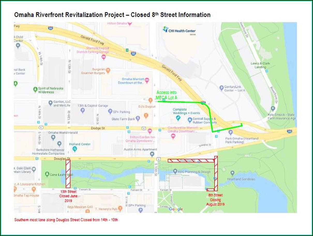 Omaha Road Closures Map